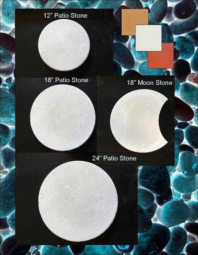 Round Patio Stones and Moon Stone