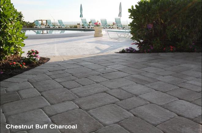 European-style patio stone