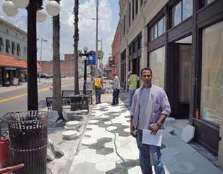 hexagon patio stones