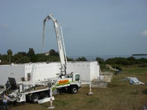 mobile concrete pumping