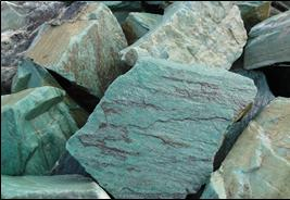 Caribbean Green Stone bank lining