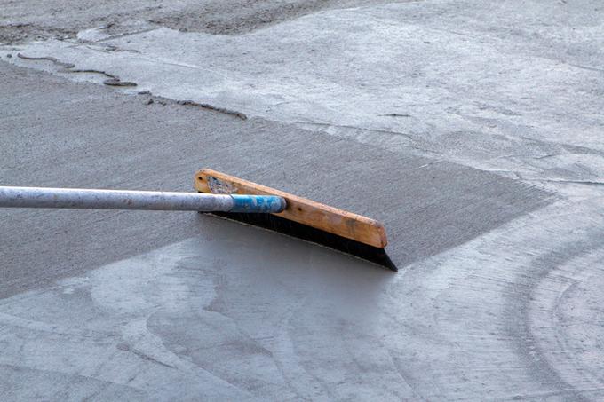 Concrete Broom Finish