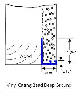 Stucco Vinyl Casing Bead Deep Ground