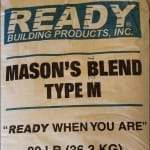 Ready Masons Blend Type M High Strength Mortar