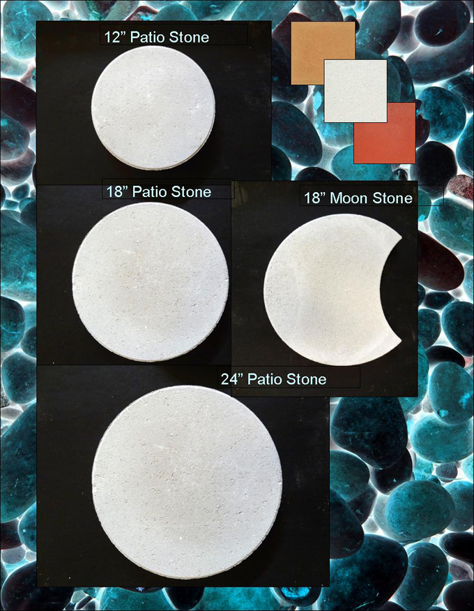 Round Patio Stones And Moon Stone