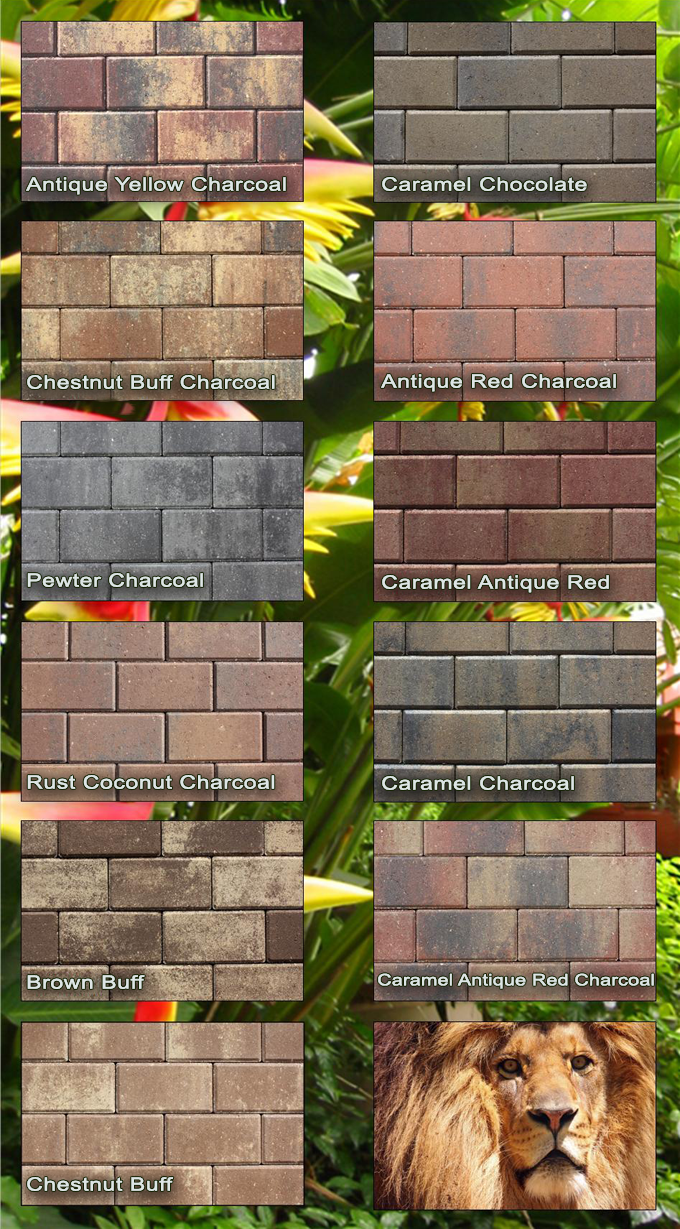 Available Colors on Brick And Crushed Granite Patio