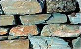 Caribbean Green Stone wall rocks