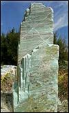 Caribbean Green Stone columns