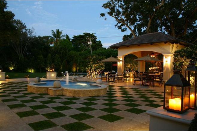 patio stone courtyard