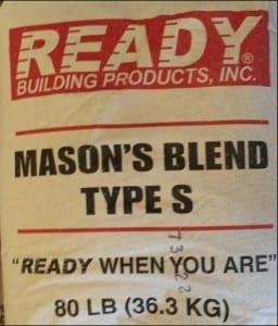 Ready Mason Blend Type S Pre-Mixed Mortar