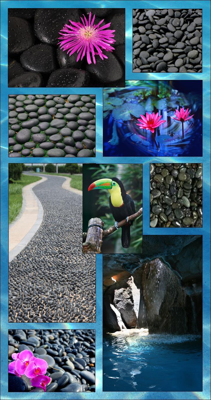 Black mexican beach pebbles carroll 39 s building materials for Beach house construction materials