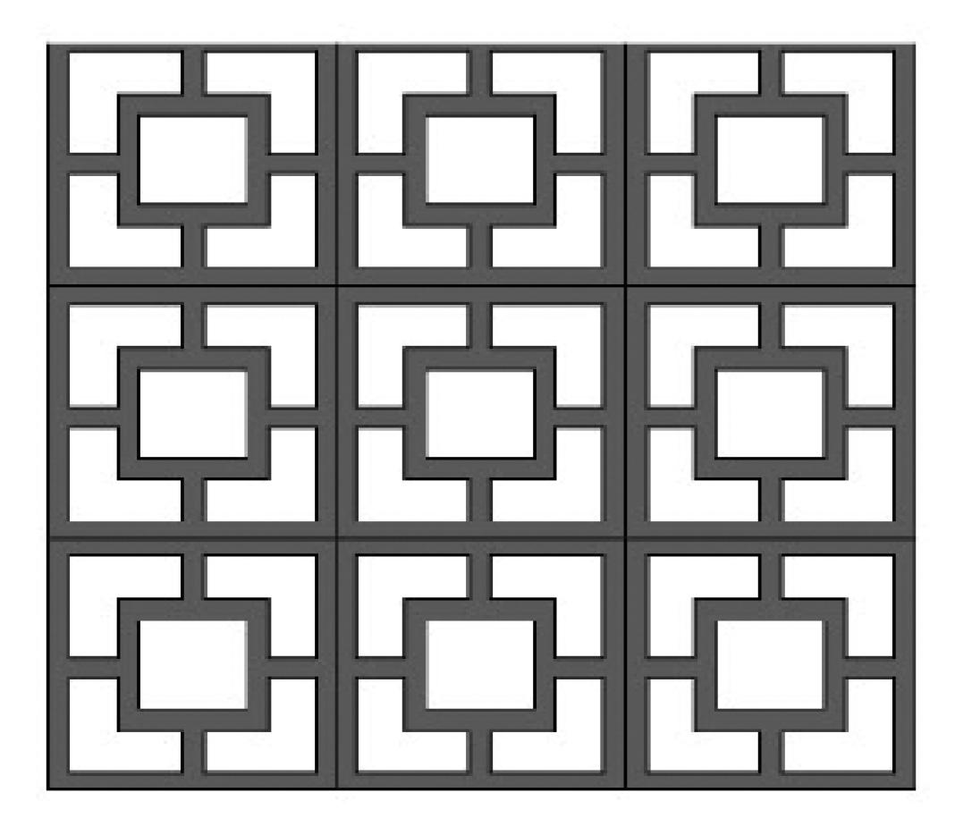 double square breeze block