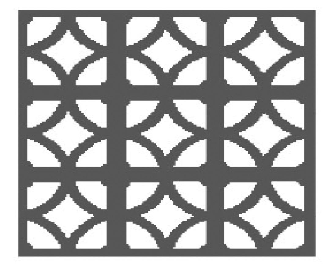 large diamond pattern block