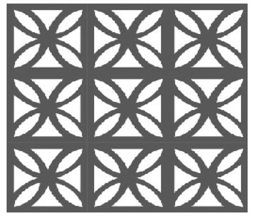 snowflake pattern block